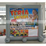 inflatable sealed air advertising screen with digital printing banner