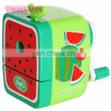 Best selling school stationery items list with price photos ,America hottest funny fruit design plastic pencil sharpener machine