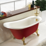 European style red color small acrylic bathtub