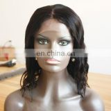 100% Unprocessed Virgin Remy Indian Hair Cheap Bob Style Hair Wig Natural Wavy Human Hair Full Lace Wig