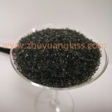 Shandong zhuyuan export recycle glass bead intermix 1-3mm3-6mm6-9mm gray aggregates glass bead