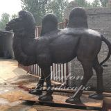 Bronze camel sculpture