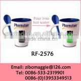 Colored Porcelain Mug with Spoon for Heat Sensitive Color Changing Mugs