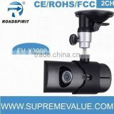 140 degree 5.0M pixels CMOS 2CH with GPS logger and G-sensor google map dual camera car dvr