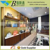 commercial wall wooden glass display cabinets showcase for bag store