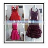 Bestdress cheap pin up RED SWING PLEATED SKIRT EVENING VINTAGE RETRO BRIDEMAID rockabilly dress boutique