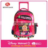 Professional Top Quality Fashionable Child School Cheap Kids Trolley Bags With Cartoon Pictures