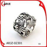 Latest design rings silver stainless steel boys rings fashion for men