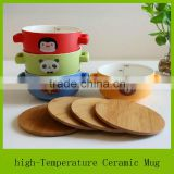 cartoon designs ceramic bowl with logo and two handles                                                                         Quality Choice
