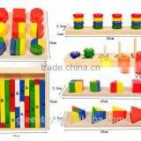 SURF building block toys eva foam geometric shape piece Imitation wood grain