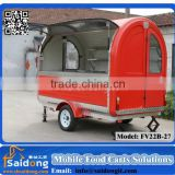 Popular shape mobile street fast food vending utility trailer/food cooking trailer for sale