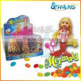 Mermaid Doll toys with jelly bean candy for girl