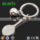 3D mini tennis racket and tennis metal key chain