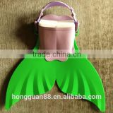 Hot sell kid silicone rubber swim mono fins with customized service available