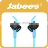 Jabees noise cancelling V4.1 ipx4 waterproof neckband stereo sport wireless Bluetooth headphones for laptop