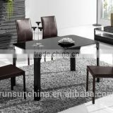 black temper glass & MDF dining room tables/dining table set (ST-090)