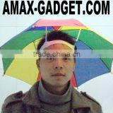 HB-003 umbrella and hat Creative beautiful umbrella hat on the head