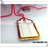 gold foil envelope shape custom jewelry price tag