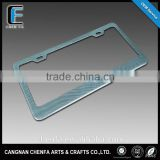 Factory wholesale car parts american stainless steel license plate frame