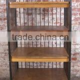 Industrial Furniture manufacturers india Vintage industrial book case wheel base