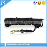 "China Wholesale Custom 3/8"" Width Long Black Braided Strong Pet Training braid nylon lead for dogs"