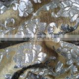 woven twill bronzing velveteen for decorative fabric