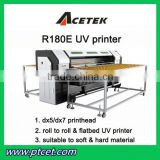 acetek UV180 printer 180 nozzles*8 lines 1800*30000cm UV digital printer