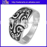Men's Solid Indian Style 925 Tai Sterling Silver Antique Engagement Rings Vintage Style Cross Ring