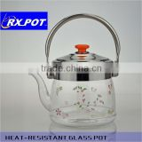 High sense and high quality pyrex glass tea pot for wholesales, OEM also available Coffee Pot 1500M