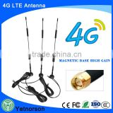 700-2600Mhz 9dB 4G LTE antenna with strong magnetic base huawei usb modem external 4g lte antennas