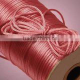 Satin cord Jewelry making supplies-dark pink color china knot satin cord for jewelry DIY making and craft supplies