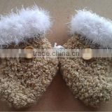High Quality Crochet Fluffy Baby's Booties