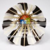 Export to Europe Improve the ability to respond /best black&white goose feather shuttlecock for Training