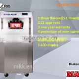 Frozen yogurt soft ice cream machine 2 + 1 mix flavors factory price 002