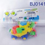 Plastic zoo animal toy funny take apart pulling cartoon elepant toy