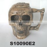 halloween skull design ceramic beer steins with lid new beer mug