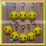 China factory price LED silicone key chain rings bulk