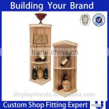 high quality retail shop furniture solid wood material display shelf for wine display rack