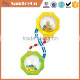 Plastic baby toy rattles musical hand bells sale