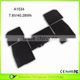 Wholesale new laptop battery 613-01555-02 A1527 For macbook air A1534 12 inch MF855 MJY32 MK4M2 battery