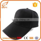 Promotion 100% acrylic mesh caps oem/odm black baseball hat