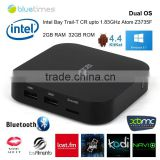 OEM/ODM set top box wholesale Atom Z3735F Wintel W8 intel tv box skype facebook internet tv box