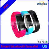 "GE-U9 high quality 0.91""OLED smart bluetooth watch smart bracelet compatible with IOS /Android system"
