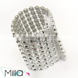 Napkin Rings Silver Bling Rhinestone Diamond Crystal Elegant Wedding Party Napkin Ring                                                                         Quality Choice