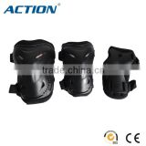 Action plastic gear set for adult bicycle skate knee pad elbow protector