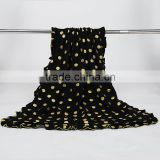 Black and Gold Polka Dot Baby Blanket Baby Bedding Blanket Nursery Black and Gold