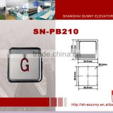 2014 latest design high quality stainless steel surface elevator component/elevator push button/PB-210