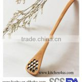 FDA LFGB SGS certificated hot selling bamboo wooden honey spoon