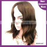 Wholesale Multidirectional top Un-processed Virgin remy Mongolian hair jewish wig kosher wigs