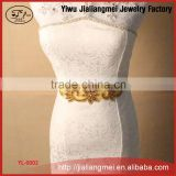 Original handmade luxury Tyrant gold belt Body Jewelry beautiful bride wedding dress accessories